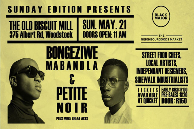 Petite Noir and Bongeziwe Mabandla at Old Biscuit Mill