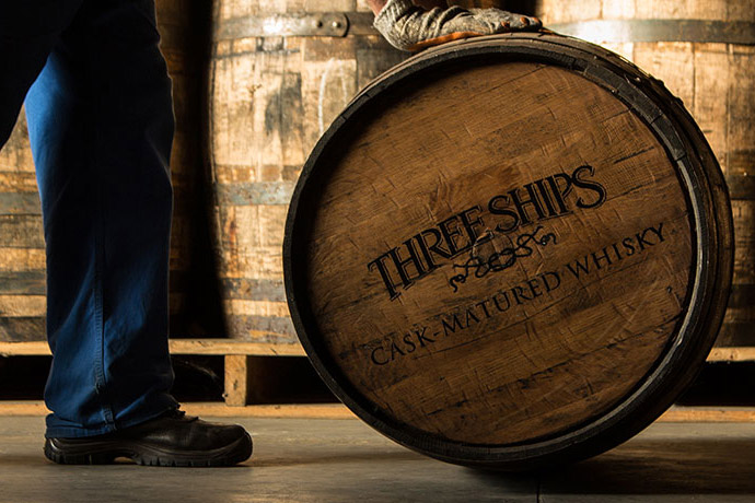 Three Ships Whisky Barrel