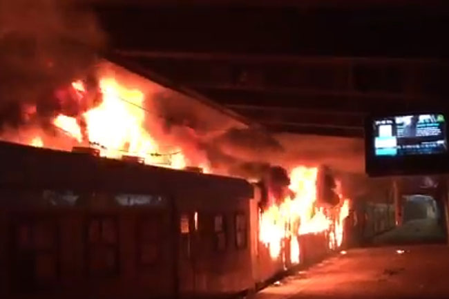 Cape Town Station fire