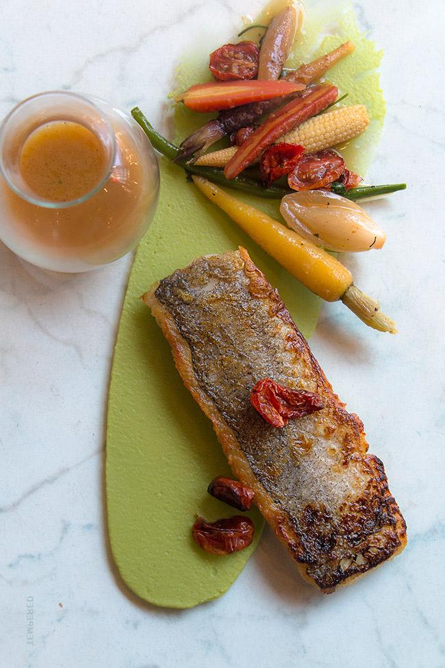 Pan seared Line fish