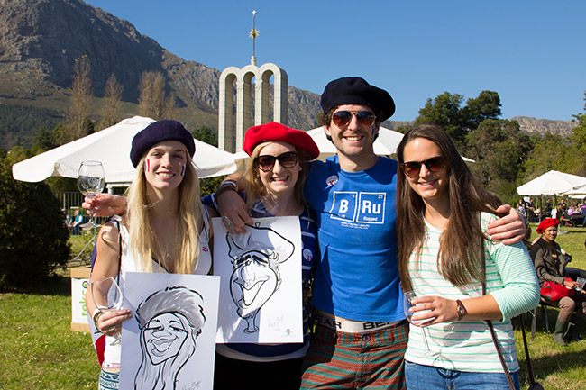 Get your caricature drawn at the festival!