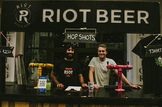 Riot Beer at 2016's Woodstock Winter Beer Festival.