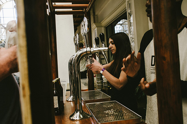 Drifter Brewing Company keeping crowds happy.