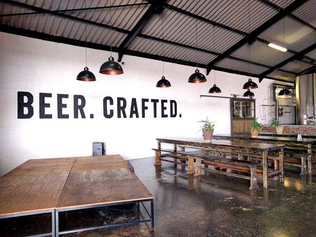 The modern interior of Jack Black's Beer and Taproom.