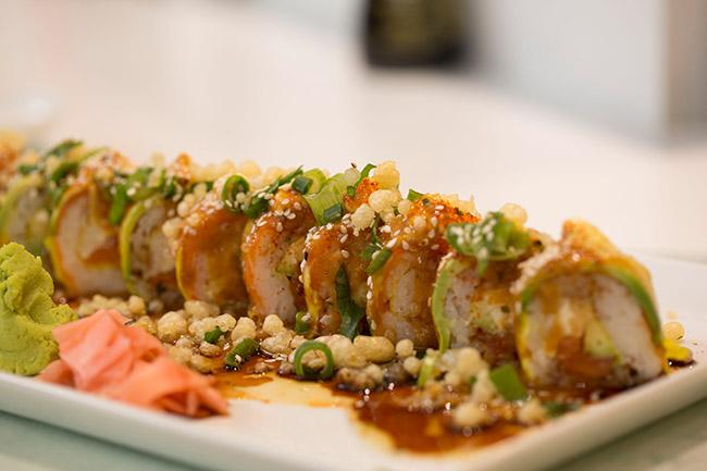 A sushi dish at Willoughby.