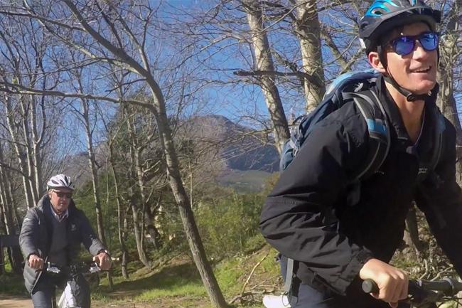 e-biking Franschhoek