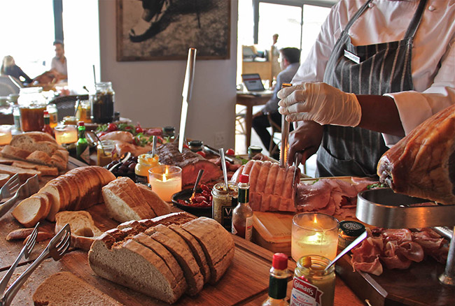 Fresh breads and food at Ginja.
