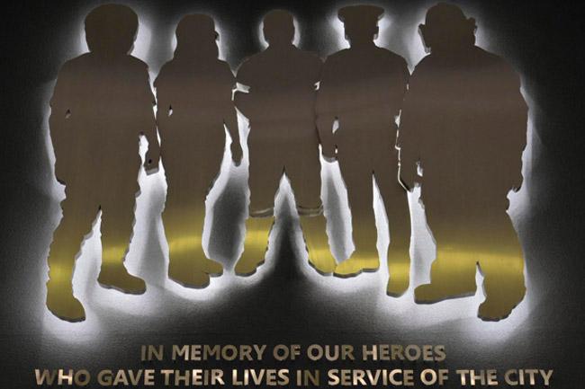 Memorial wall for fallen enforcement staff