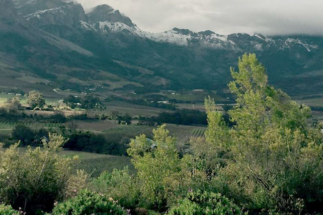 August snow Western Cape