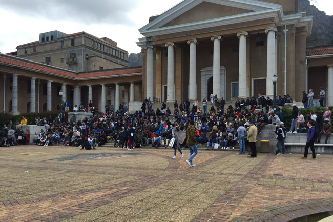 #FEESMUSTFALL: Campus closed following protest disruptions