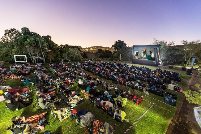 Popcorn, movie and a starry night