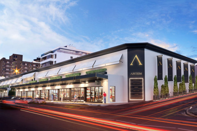 Artists impression of the Artem shopping centre
