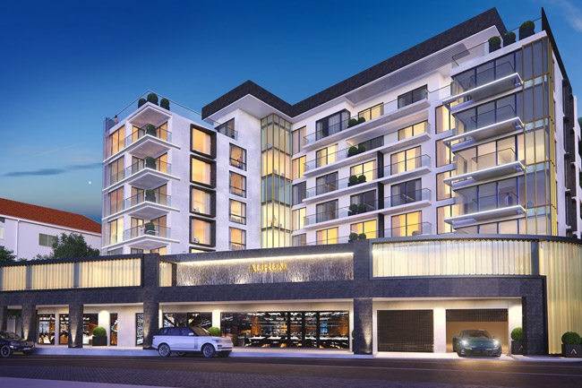 Artists impression of the Aurum apartments
