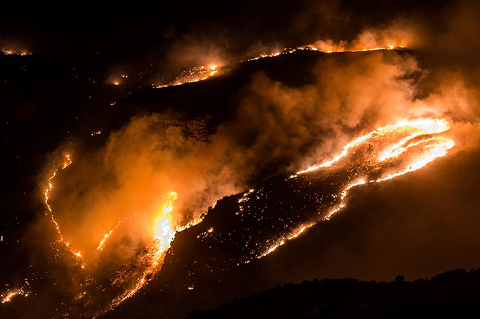 Fire on the Bainskloof pass burns out of control
