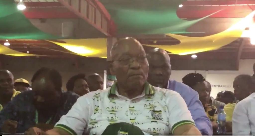 WATCH: Zuma's reaction after Ramaphosa is announced as President