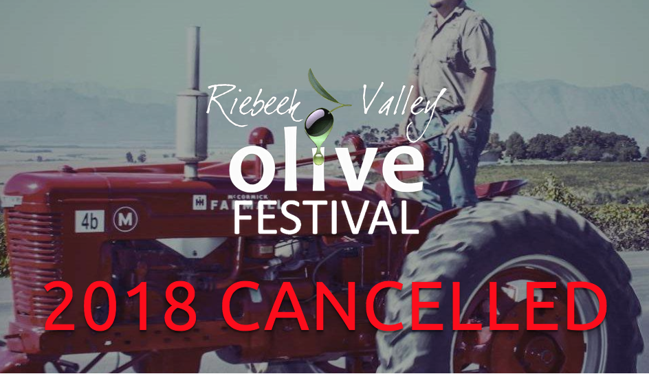 Riebeek Valley Olive Festival cancelled due to drought
