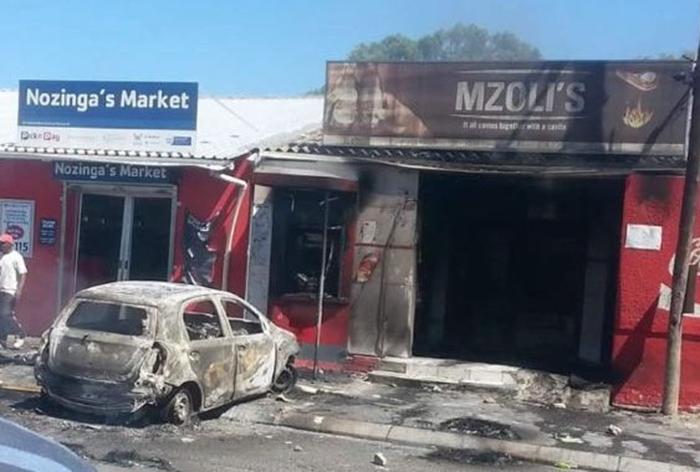 Mzoli's vandalised and set alight
