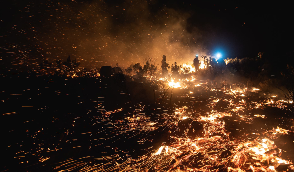 Franschhoek fire in pictures