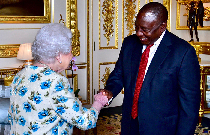 President Cyril Ramaphosa meets the Queen
