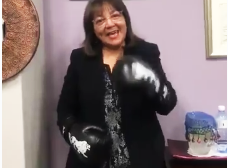 Patricia de Lille readies herself for another round