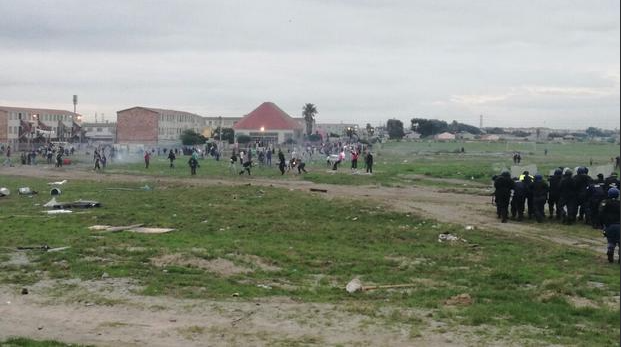 Teenager struck in mouth during Parkwood protests