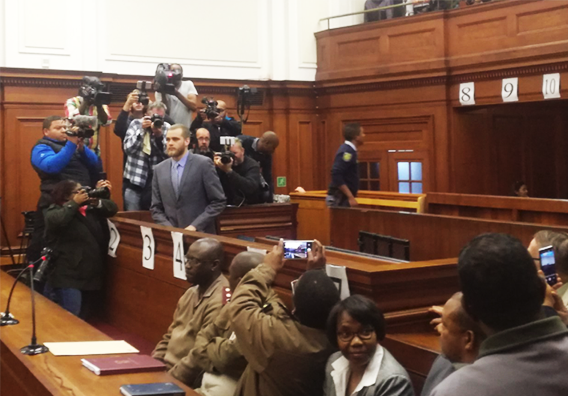 Van Breda's family shows up to support him