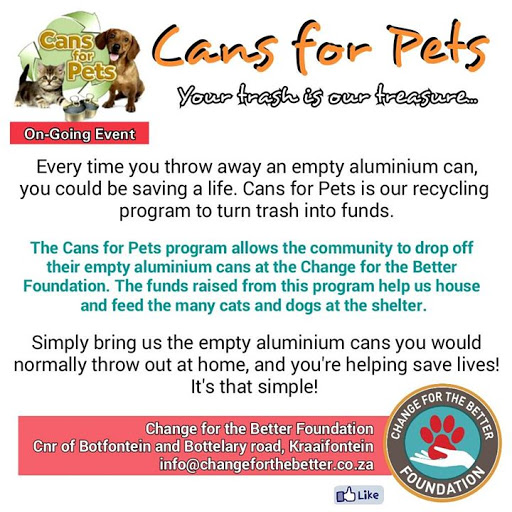Cans for Pets (On-going event)