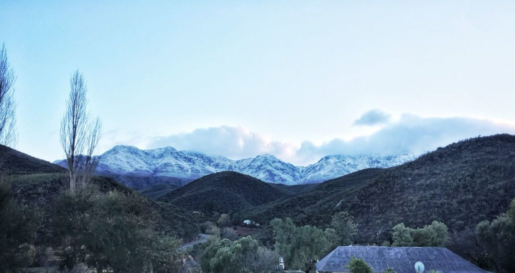 It's snowing in the Western Cape