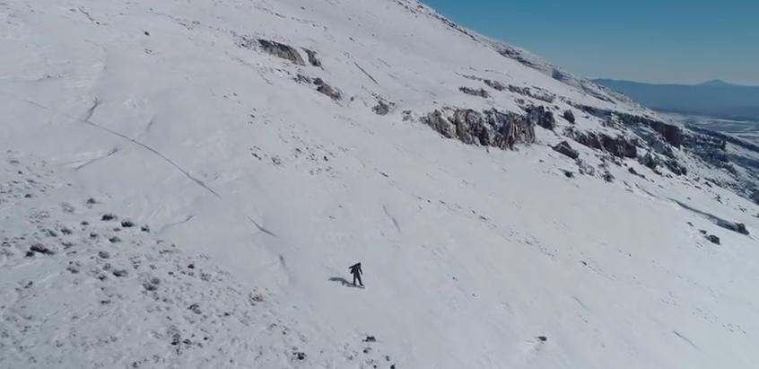 Snowboarding in Matroosberg