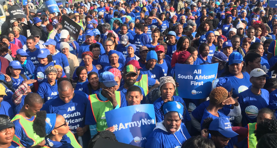 DA call for ANC to send army to Western Cape