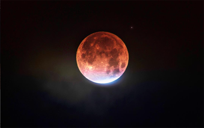 Pictures: Blood moon rising