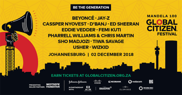 Oprah' Beyoncé' Jay-Z headed to SA for Global Citizen Festival