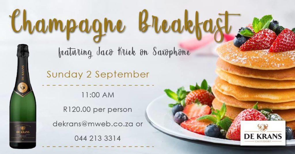 Champagne Breakfast at De Krans Wine Estate