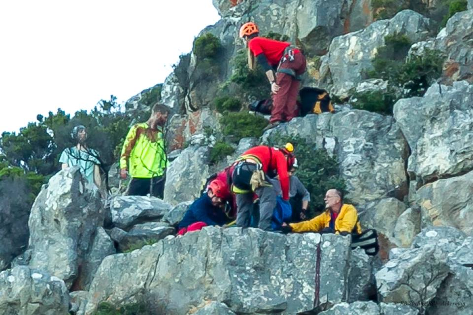 PICTURES: American rescued after St James' Peak fall