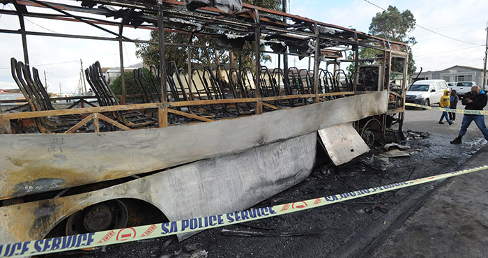 Pictures: Destruction from taxi strike