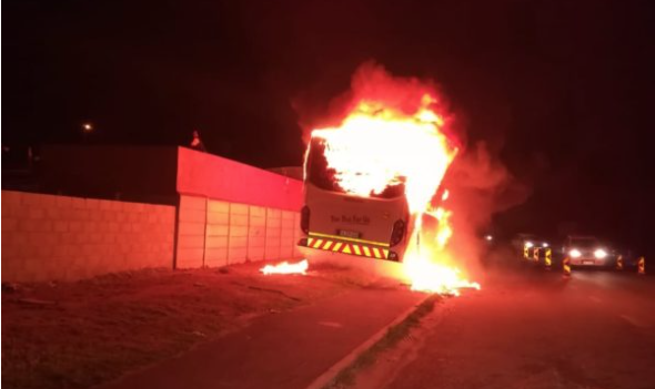 Buses set alight during Cape Town taxi strike