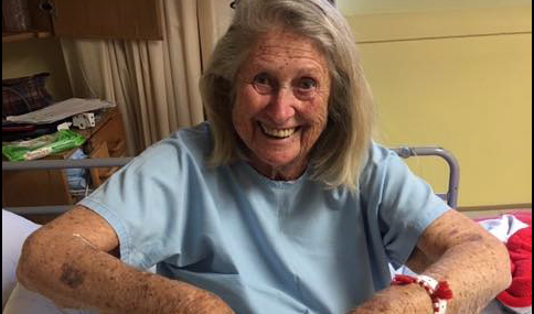 Courageous gran beats the odds, again