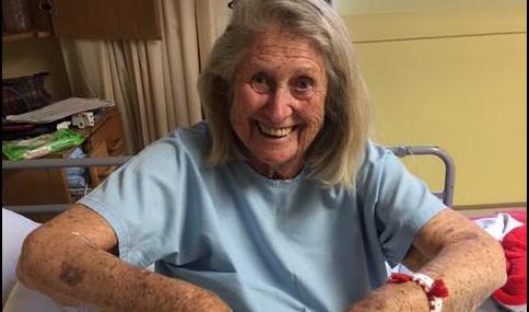 Courageous gran beats the odds, again