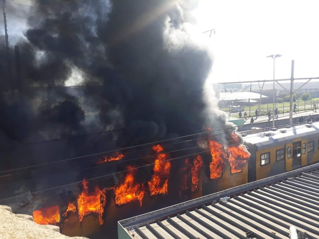 Two more train carriages razed at Koeberg station