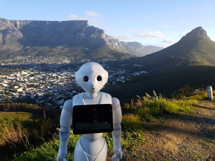 Pepper the Robot marvels at Cape Town