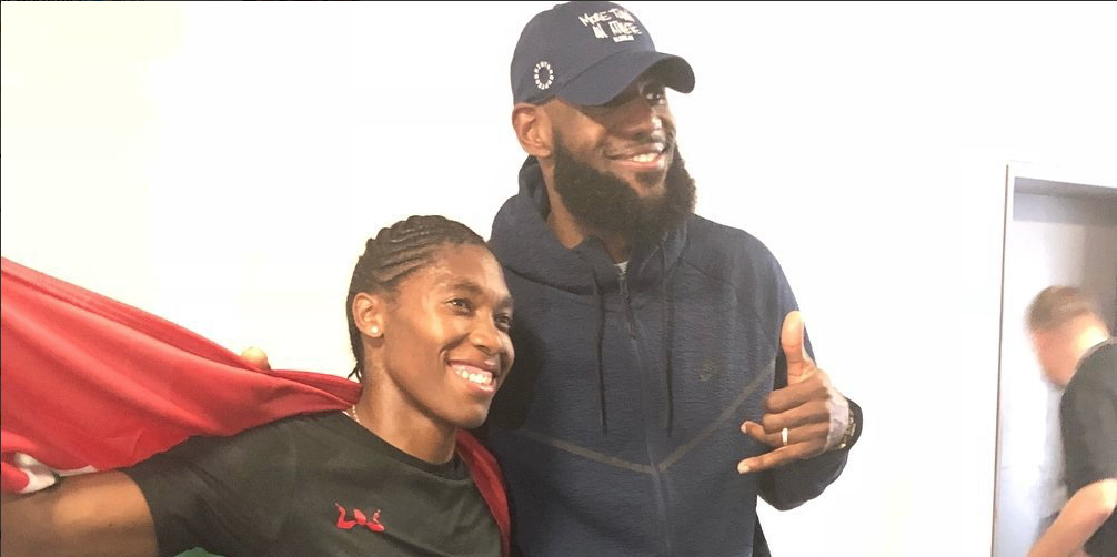 LeBron James stops in Berlin to see Caster run