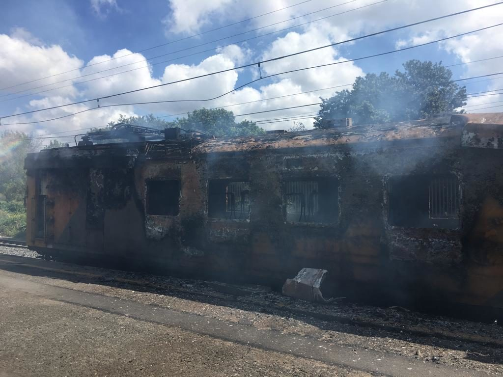 PICTURES: Three separate train fires happen