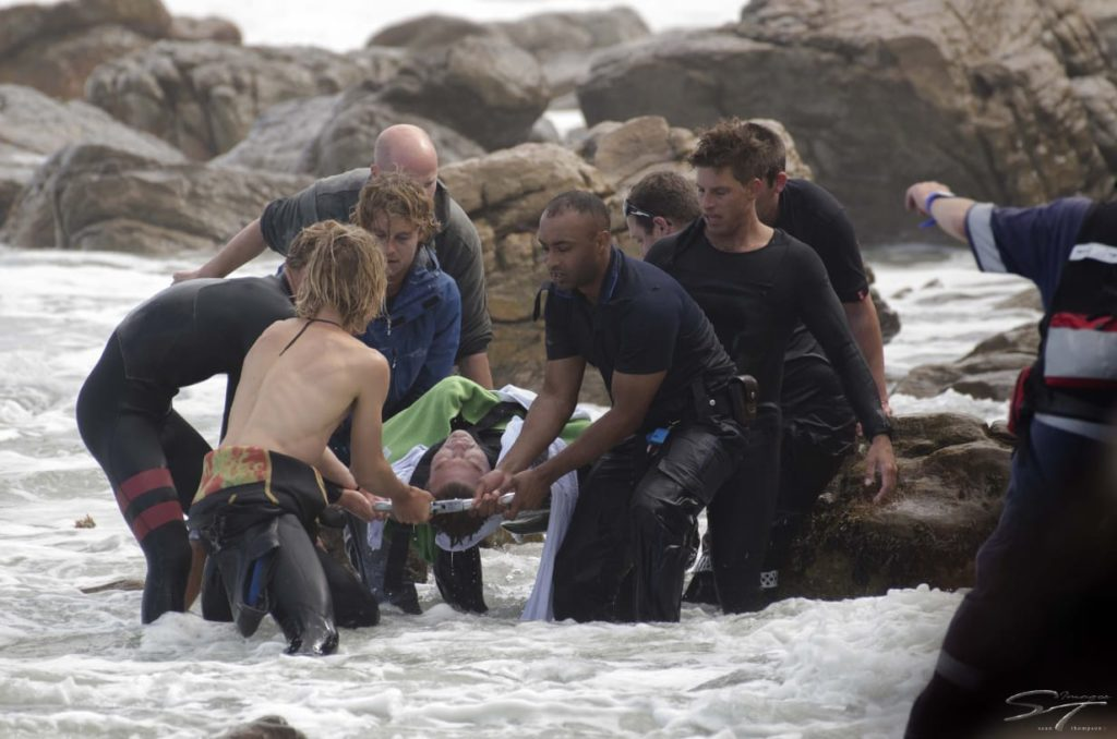 Bodyboarder saved from rough seas