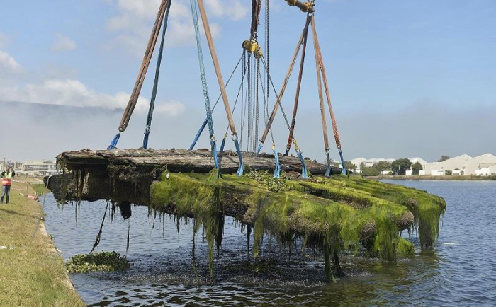 Historical shipwreck relocated to Lagoon Beach