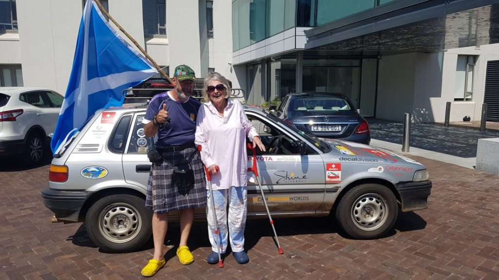 Scotsman drives sick granny's car from Egypt to Cape Town