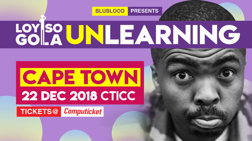 Loyiso Gola in Unlearning at CTICC