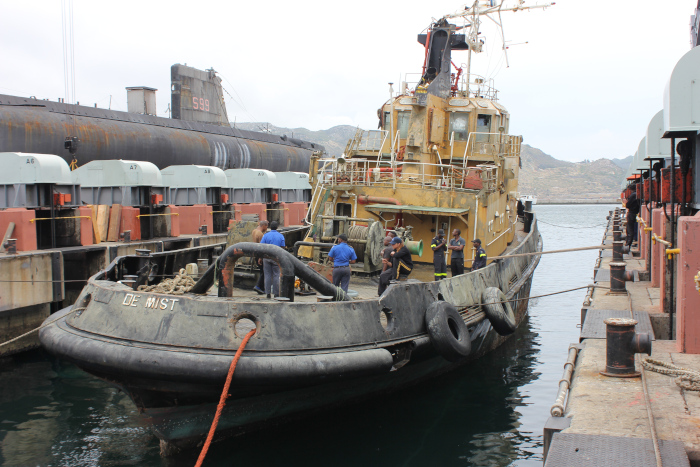 SA Navy raises sunken tug in Simon's Town
