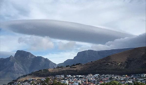 Cape Town's clouds take on unusual shapes