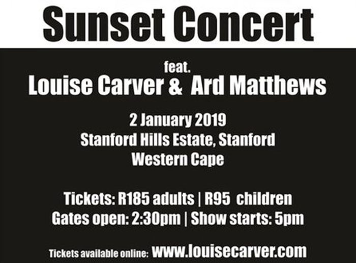 Louise Carver and Ard Matthews Concert at Stanford Hills Estate