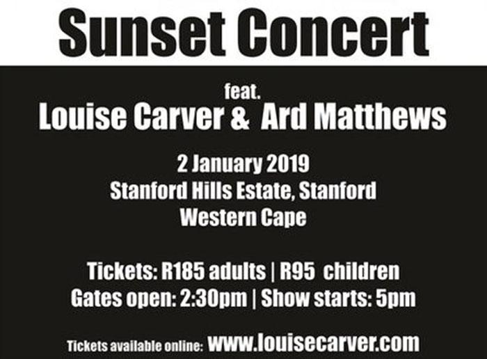 Louise Carver and Ard Matthews Concert at Stanford Hills Estate